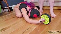 Brutal anal gaping Ass-Slave Yoga