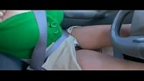 Masturbating During A Drive In The Car