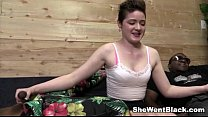 Sweet Emma Snow Pounded by Black Cocks Image