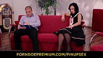 PINUP SEX - Steamy pinup fuck with beautiful Hungarian brunette babe Denise Sky