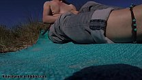 Pierced And Shaved Guy On A Nude Beach Getting