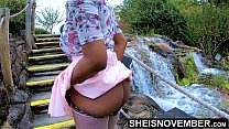 Msnovember In 4k HD Erotic Slow Motion Ass Flash Standing Outdoor Near Water Fall Pulling Upskirt In Public Getting Her Pretty Booty Grabbed Wearing Pink Short Skirt With Black Thong Pulled Down Sheisnovember pornhub video