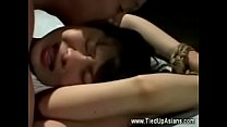 Bound Asian Forced To Suck Cock Then Gets Fucked -