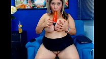 Young Latina BBW with huge tits teasing-sponsored by ADULTTOYSX.TK