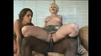Two slutty army chicks have a threesome to remember in their living room