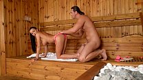 Slovak babe Pattty Michova fucks in Sauna Preview