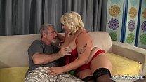 Blonde BBW jade Rose taking a fat dick
