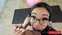 FIT18 - Desperate 95lb Asian Teen Harmony Wonder Gets Creampie