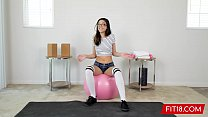 FIT18 - Desperate 95lb Asian Teen Harmony Wonder Gets Creampie thumbnail