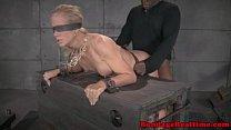 Blindfolded submissive spitroasted video