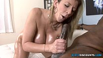 Image: Interracial phat booty MILF squirts on BBC