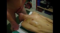 two guys deepthroat a blonde Preview