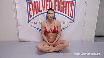 Ariel X Lesbian Sex Wrestling Dominates Bella Rossi With A Strapon