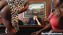 Squirting ebony babes make guys office messy's Thumb