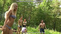 Dirty-minded babes enjoy champagne and college DP scene 3 thumbnail
