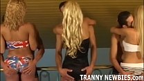 Come along to our transsexual gangbang