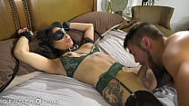 GenderX   Submissive Trans Babe Cuffed & Blindf