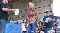 real chicks getting totally naked in a contest at an iowa biker rally thumbnail