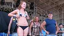 real chicks getting totally naked in a contest at an iowa biker rally