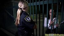 Outdoor big tits cops fucking threesome interra...