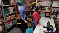 Sexy Brunette Chick Shoplifter Punished With A Fuck
