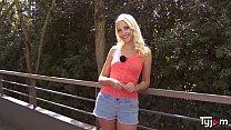Naughty blonde Helena Moeller not afraid of a huge cock
