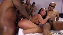 Interracial Gangbang With Anal Slut Amara Romani video