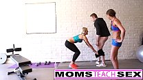 Steamy workout turns hardcore with mom and daughter thumbnail