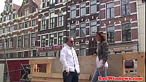 Amsterdam prostitute tugging customers cock pornhub video