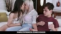 MOM teaches SON to fuck his GF- Amina Fara & Nina Elle صورة