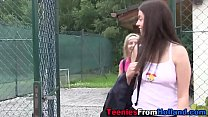 Tiny tennis teen fingered