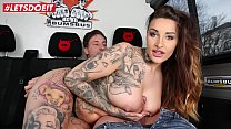 LETSDOEIT - Astonishing German Busty Wild Vicky Bums Bus Drilled