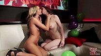 GIRLS GONE WILD - Teen Besties At The Club, Getting Frisky In The VIP Room porn thumbnail