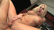 Gorgeous busty blonde Christie Stevens fucks with old man