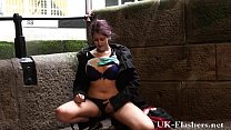 pissing in public of indian teen peeing outdoors and flashing | auntys xxx thumbnail