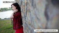 Czech girl showing tits - XCZECH.com pornhub video