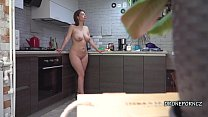 Czech MILF Gadget- Hidden spy cam in the kitchen