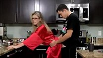 19457 Young Son Fucks his Hot Mom in the Kitchen preview