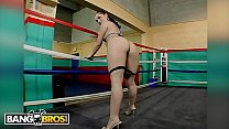 Image: BANGBROS - Two Studs Fight For MILF Sara Jay and Kristina Rose's Booties