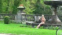 Hot public nudity with sweet blonde Preview