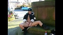 Masturbation in public with blonde teen welsh babe Loz in uk outdoor nudity and Preview