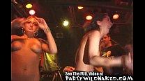 Wet sexy girls get naked in a wet t-shirt contest Vorschaubild