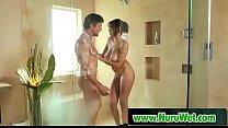 Japanesse masseuse gives pleasure in nuru massage 16