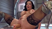 Double Fuck Machine For Perfect Brunette from vpwipes.com