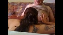 Young Chick Sucks Off Old man