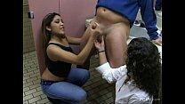 CFNM Nautica Thorn handjob in bathroom