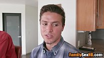 Mom and son fuck next to busy dad - VideoMakeLove.Com