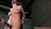 Bigtitted bdsm sub punished roughly video