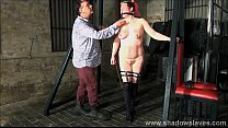 Tit whipping and hard caning of redhead amateur bdsm slave Bunny in rigid spanking and clamped nipple torments Vorschaubild