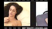 Kinky girls steals panties to masturbate with